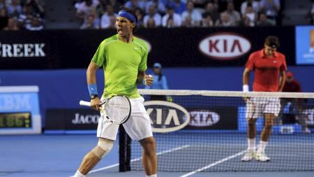 Rafael Nadal og Roger Federer (Foto: POOL/Reuters)