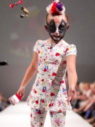 LITTLE CUPCAKES: Fam Irvoll lanserte sin første kolleksjon for   barn i 2010, «Little Cupcakes». Her fra visningen under Oslo Fashion   Week i fjor.