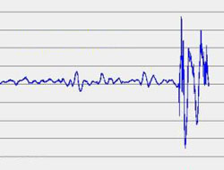 Utsnittet fra måleinstrumentet til Rob en Threes viser at partikkelskyen traff 16.15. (Foto: Rob en Threes)