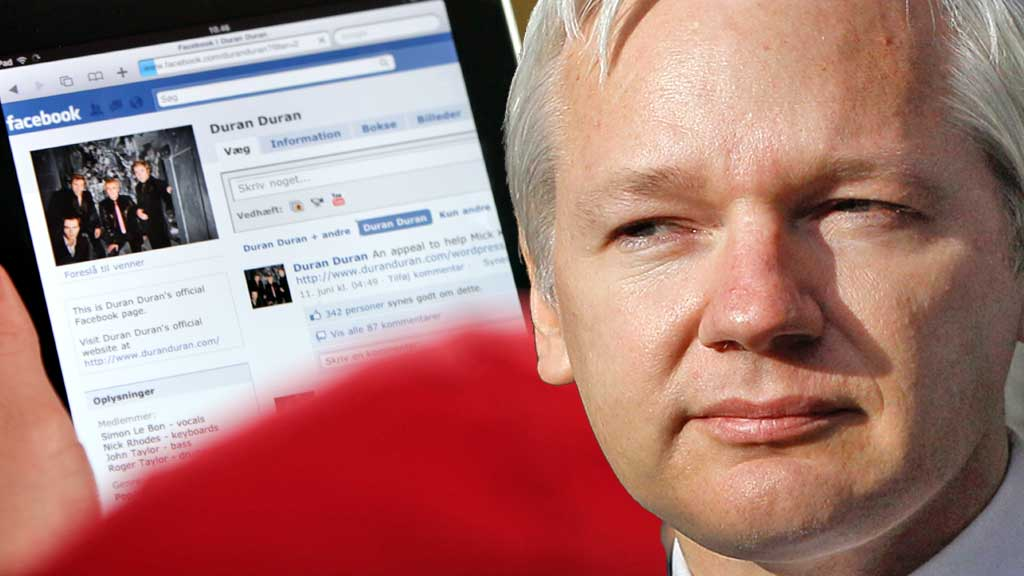 Facebook og Julian Assange (Foto: Colourbox/Reuters montasje: TV 2)