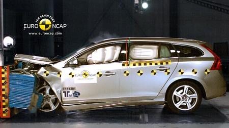 Volvo-V60-krasj (Foto: EURO NCAP)