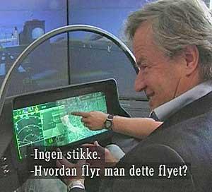 FANT IKKE STIKKA: Bjørn Kjos oppdaget at kampflyene har forandret   seg da han fikk prøve en runde i Joint Strike Fighter-simulatoren.