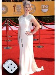 HOLLYWOOD-GLAM: Kelly Osbourne så ut som en moderne Marylin   Monroe under SAG Awards.