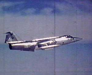 En norsk F-104 Starfighter på tokt. (Foto: Luftforsvaret)