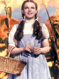 KLASSIKER: Dorothys blå- og hvitrutete kjole i «Trollmannen fra Oz» er blant verdens mest ikoniske filmkostymer.