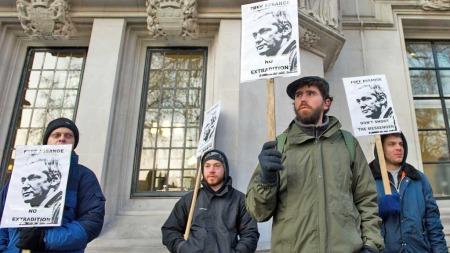 Assange London demo (Foto: AFP)