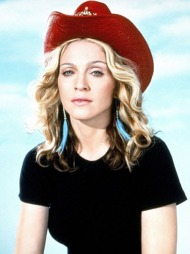 COWBOYHATT: Madonna har vært innom de aller fleste stiler. Her   med en cowboyinspirert look.