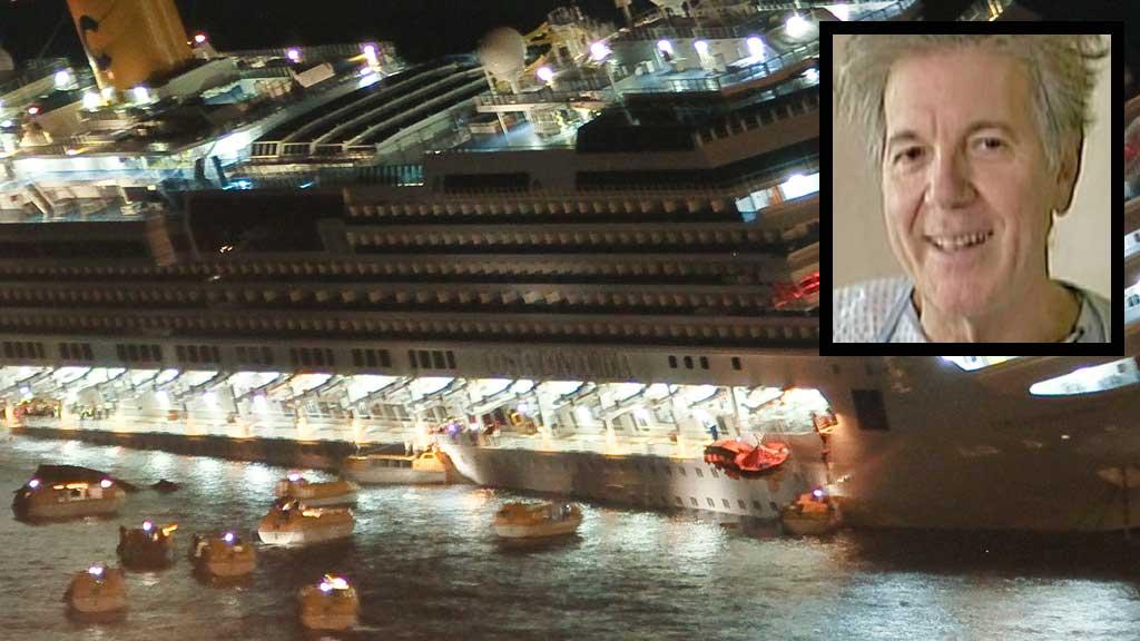 Costa Concordia og Manrico Giampedroni (Foto: AP/TV2 Danmark montasje: TV 2)