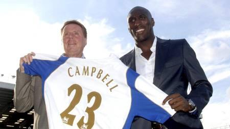 Redknapp og Campbell (Foto: Sean Dempsey/Pa Photos)