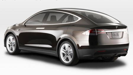 Tesla Model X SUV bakfra