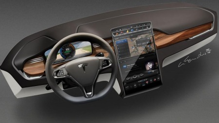 Tesla Model X interiør