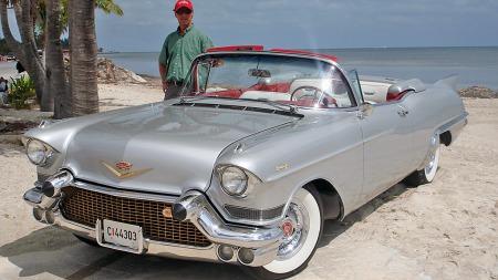 Amcar-president og medarrangør Harry Kjensli tar selv med seg sin 1957 Cadillac Eldorado Biarritz over for å krysse USA neste sommer. Det blir bilens andre visitt på