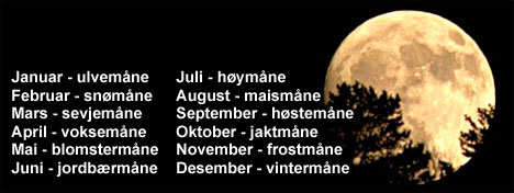 De indianske navnene på fullmånen. (Foto: Silja Akselsen)