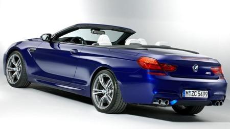 BMW M6 skrått bakfra uten tak