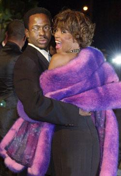 Bobby Brown og Whitney Houston (Foto: AP)