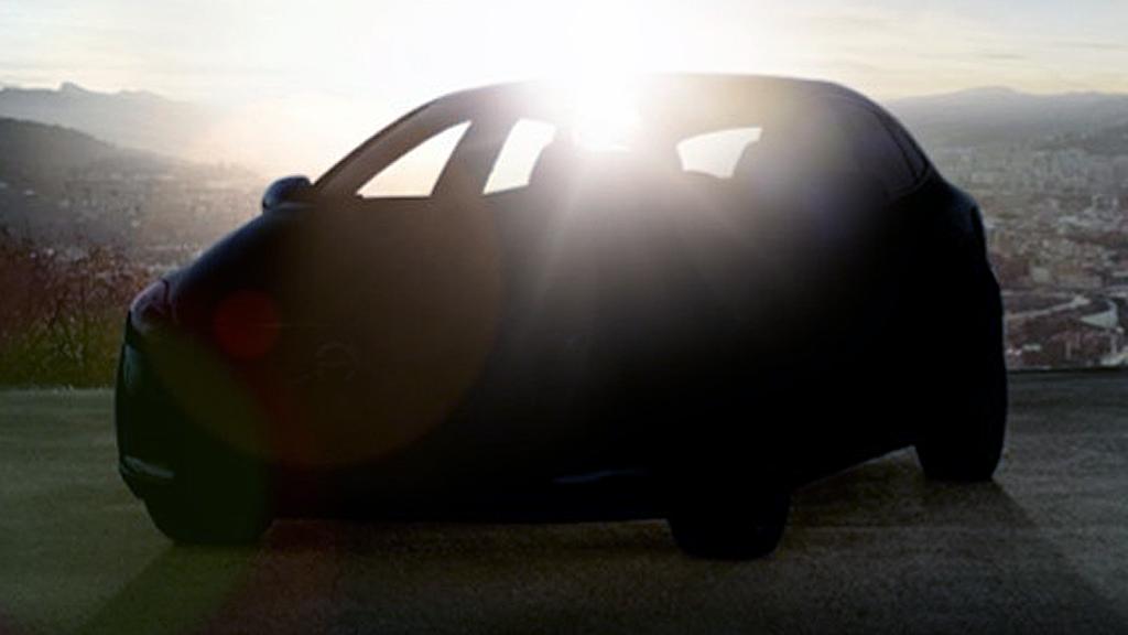 """Ser du hva slags bil dette er? Ironisk nok syntes den bedre på de forrige """"teaser-bildene"""" - men uansett er det snart så du får se hele bilen, når den avdukes i Geneve i mars."""