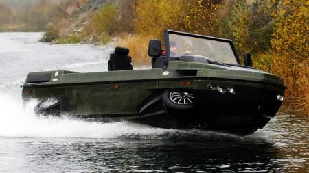 Her er kompaktmodellen, Humdinga, som skal være et ekstremt terrenggående amfibiekjøretøy.