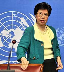 TOK IKKE VAKSINEN SELV: Sjefen for Verdens helseorganisasjon,   Margaret Chan.