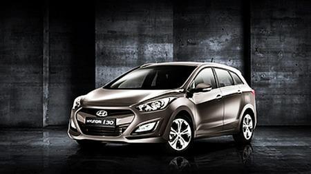 Man kjenner godt igjen fronten på i30 fra de andre bilene i   Hyundai-familien.