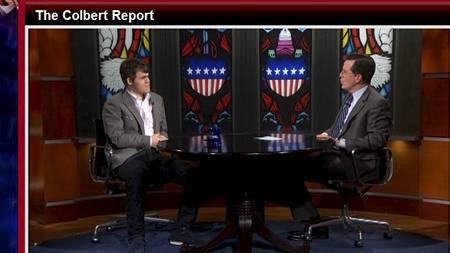Magnus Carlsen (Foto: Colbert Report/)