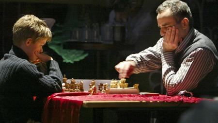 Magnus Carlsen og Garry Kasparov