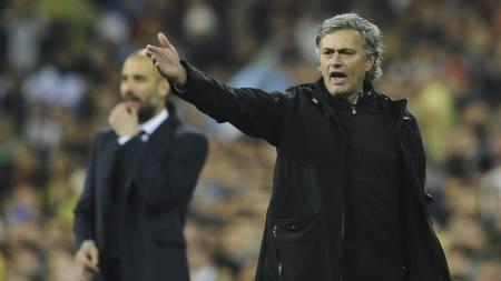Jose Mourinho og Pep Guardiola (Foto: PIERRE-PHILIPPE MARCOU/Afp)