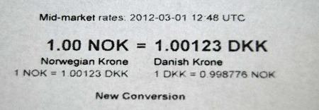 DAGENS KURS: Den norske kronen er torsdag mer verdt enn den danske. (Foto: Christofer Kjos Gabrielsen / TV 2)