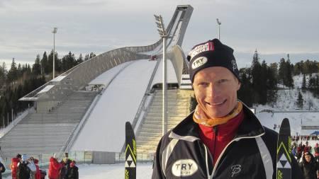 MOSJONIST BLE ELITELØPER: Han er 40 år og tobarnsfar. Nå debuterer Nils Robert Hodnesdal i eliteklassen. (Foto: Privat/)