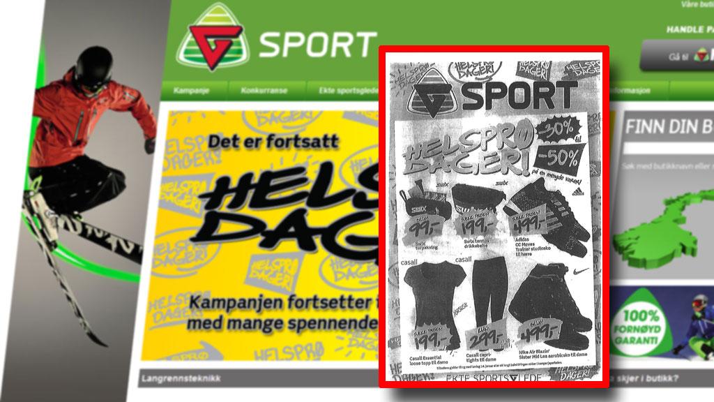g-sport-tilbudsavis (Foto: Faksimile Gsport.no)