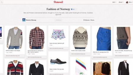 Få norske bedrifter har kastet seg på Pinterest-bølgen ennå, men de kommer garantert etter hvert. Moods of Norway er allerede på plass.  (Foto: Pinterest.com)