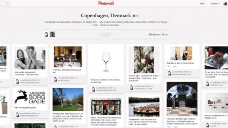 Astrid Valen-Utvik planlegger sin Danmark-ferie på Pinterest. Her samler hun opp informasjon når hun kommer over det på nettet.  (Foto: Pinterest.com)