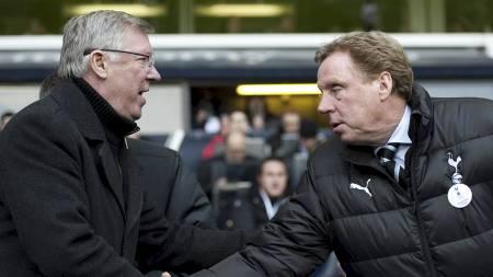 Sir Alex Ferguson og Harry Redknapp (Foto: ADRIAN DENNIS/Afp)