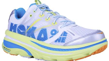 HØY SÅLE: Hoka One One Bondi B har best støtdemping av skoene i Löplabbets test. (Foto: Löplabbet/)