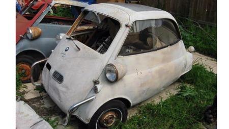 Mens bilene ble større og større utviklet det seg et visst marked for småbiler også i USA på sent 50-tall. Men Isettaen ble i overkant sær og primitiv, og salget av den lille tyske mikrobilen tok aldri av. Foto: eBay