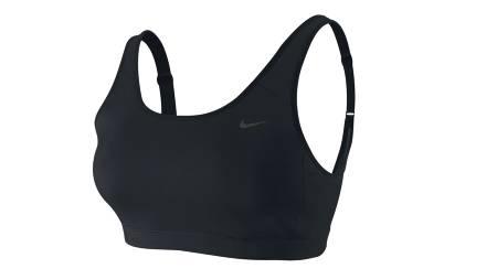 SITTER PENT PÅ: Du kan fint trene bare i Nike Adjust U-Bra. Pulsbelte passer godt under kanten. (Foto: Nike/)