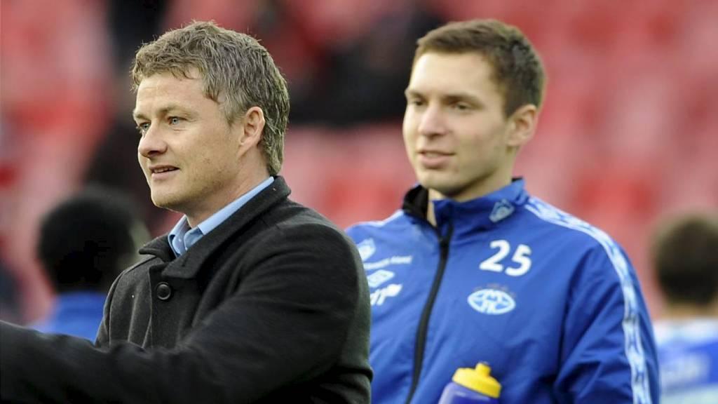 Ole Gunnar Solskjær og Sean Cunningham (Foto: Hommedal, Marit/Scanpix)