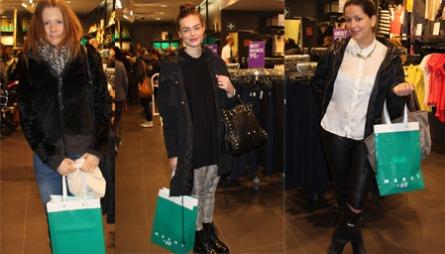 FORNØYDE SHOPPERE: Martina, Benedicte og Suzanne var alle fornøyd med Marni sin gjestekolleksjon for H&M.