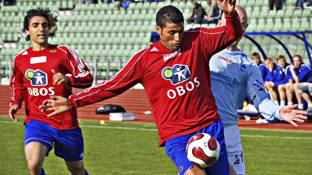 """Mohammed """"Moa"""" Abdullaoue (bak) og Abdurahim """"Ibba"""" Laajaab fra tiden i Skeid. (Foto: Grundseth Dag W/Aftenposten)"""