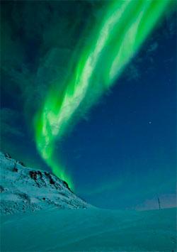 Truls Tiller tok dette bildet på toppen av Finnvikdalen i Troms mandag. All aktiviteten på solen vil gi mer flott nordlys denne uken, forhåpentligvis også i Sør-Norge. (Foto: Truls Tiller)