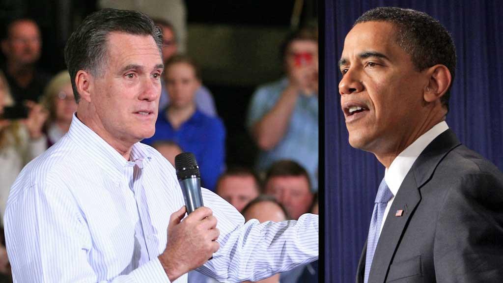 Høstens presidentvalg «over there» står mellom Mitt Romney og Barack Obama. (Foto: Reuters/AP montasje: TV 2)