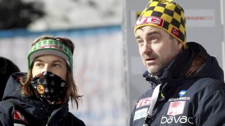 BEDRE I GRANÅSEN:  Clas Brede Bråthen mener at Tom Hilde og resten av landslagshopperne trives bedre i Trondheim enn i Oslo. (Foto: Åserud, Lise/Scanpix)