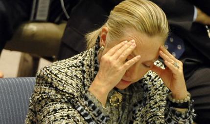 OPPGITT: Hillary Clinton sa verdenssamfunnet ikke kan sitte og se på det som skjer i Syria.  (Foto: Afp)