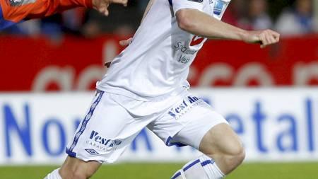 FÅR SKRYT: Kristoffer Haraldseid spilte åtte kamper i Tippeligaen i 2011. (Foto: Ness, Jan Kåre/Scanpix)