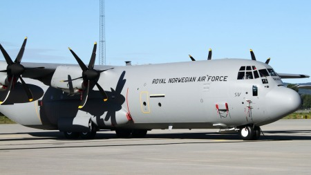 STYRTET: Det norske Hercules C-130J-transportflyet