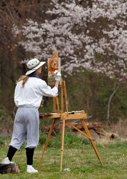 Janet Frankovic maler i Maryland 15. mars. (Foto: reuters)