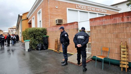 Ozar Hatorah skole Toulouse (Foto: AFP)