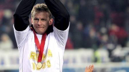 HJEMVENDT SØNN: Steffen Iversen er tilbake i Rosenborg etter en tøff tid som utenlandsproff i Crystal Palace. (Foto: Kallestad, Gorm/Scanpix)