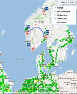 Foreløpig er bare noen få veistrekninger dekket i Norge. (Foto: storm.no/trafikk)