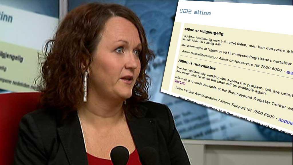 VET IKKE NÅR DE FÅR ALTINN OPP IGJEN: Programdirektør Cathrine Holten. (Foto: TV 2/skjermdump)