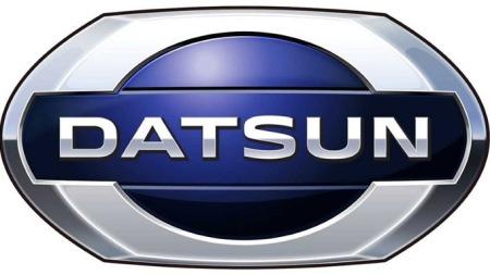 Slik ser den helt nye Datsun-logoen ut.